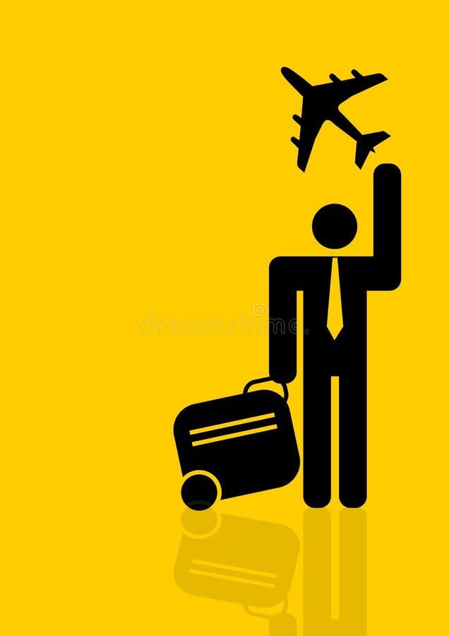 Weltreisender Geschäftsmann vektor abbildung