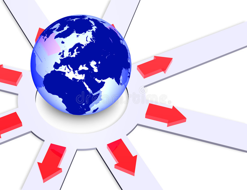 Weltrichtungen lizenzfreie abbildung