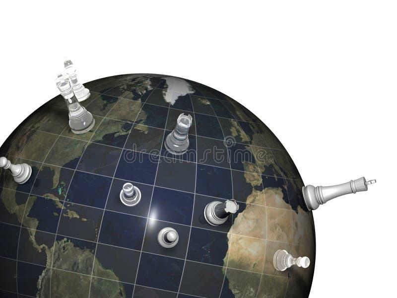 Weltschach stock abbildung