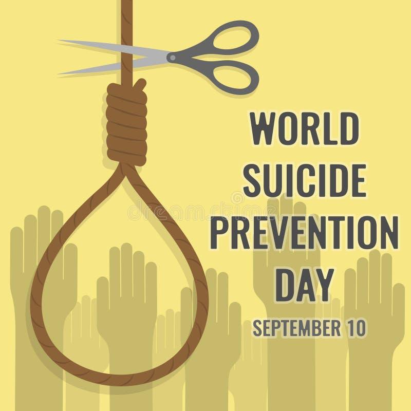 Weltselbstmord-Verhinderungs-Tag, am 10. September lizenzfreie abbildung
