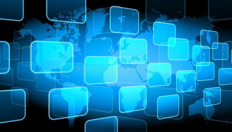 Welttechnologiehintergrund stock abbildung