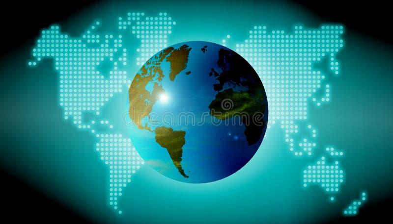 Welttechnologiehintergrund stockfoto