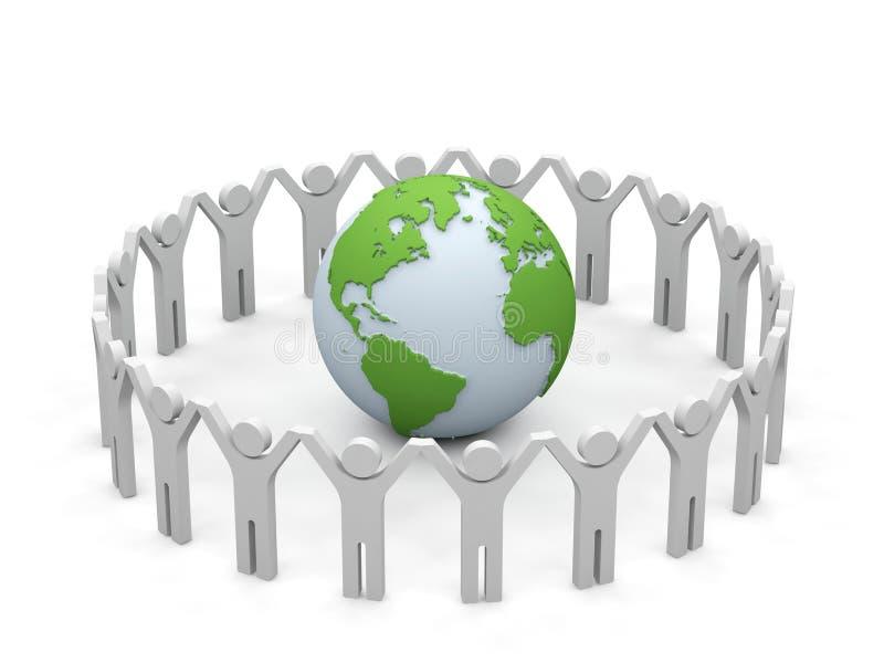Weltteilhaberschaft. stock abbildung