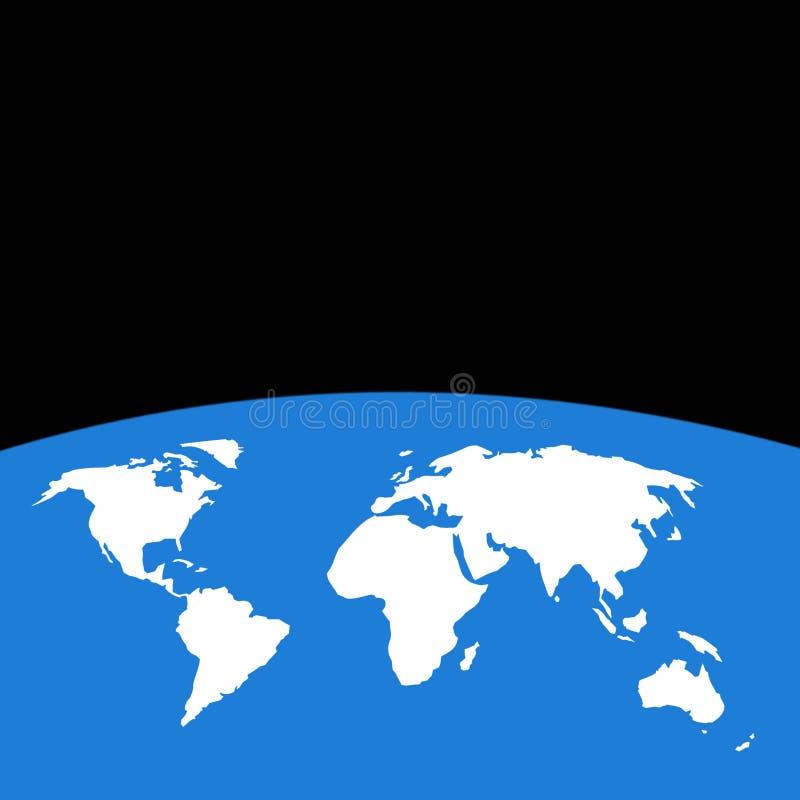 Weltumreißkarte lizenzfreie abbildung