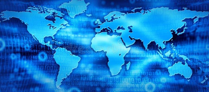 Weltverkehrsaufbau lizenzfreie abbildung