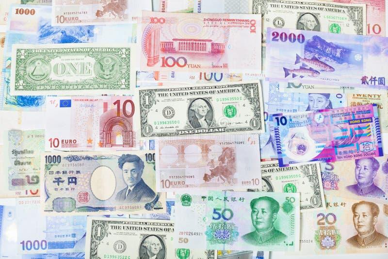 Weltwährungspapier, Bankwesen, Finanzierung und Börse stockfoto