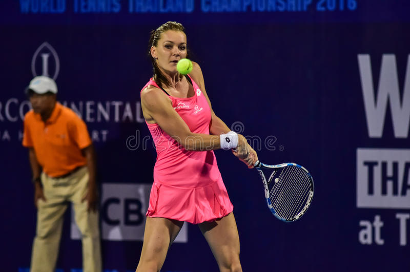Weltweiblicher Tennisspieler Aginieszka Radwanska stockbilder