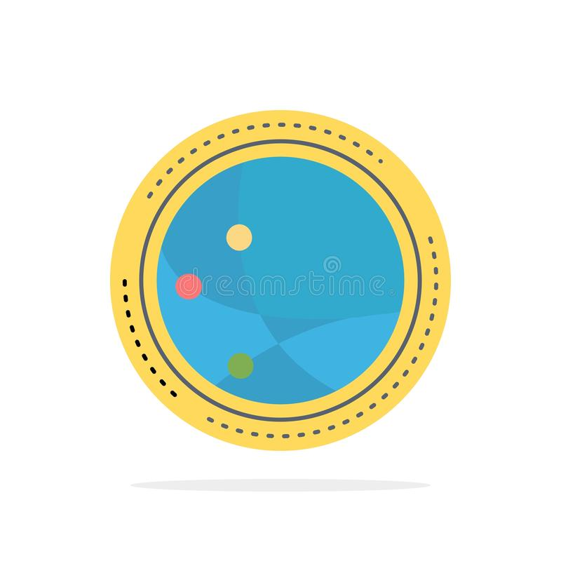 weltweit Kommunikation, Verbindung, Internet, Netz flacher Farbikonen-Vektor lizenzfreie abbildung