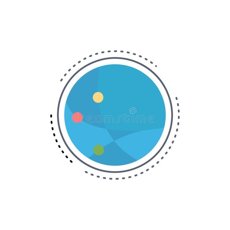 weltweit Kommunikation, Verbindung, Internet, Netz flacher Farbikonen-Vektor stock abbildung