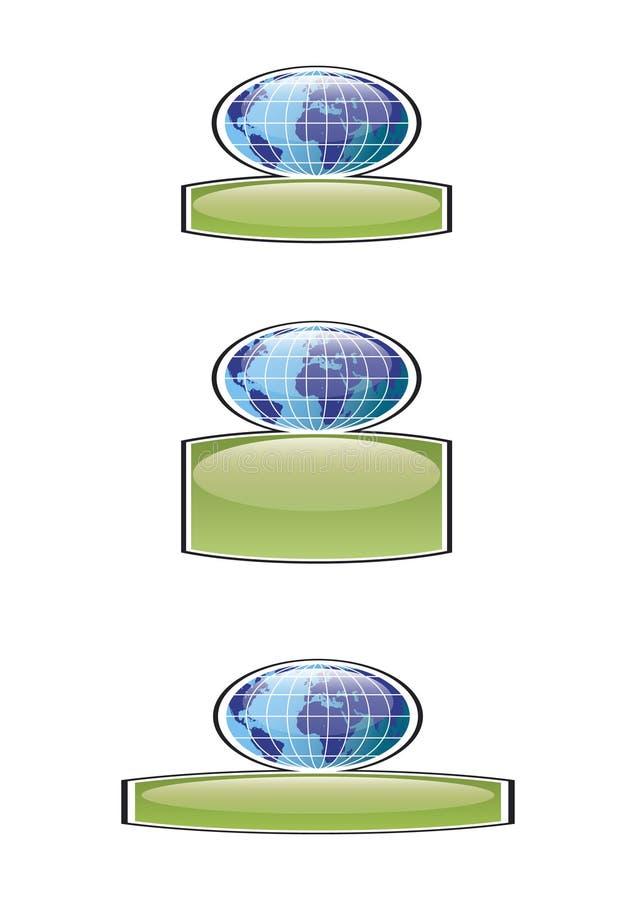 Weltweite Abzeichen vektor abbildung