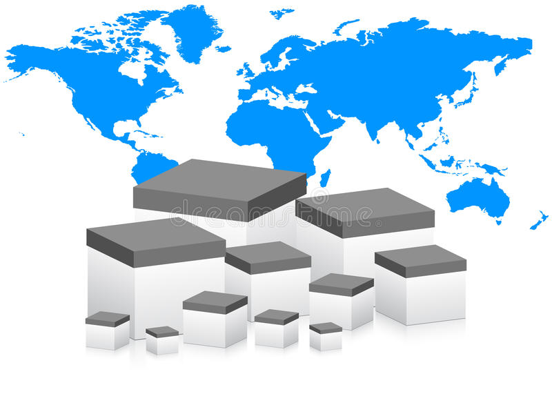 Weltweite Anlieferung stock abbildung