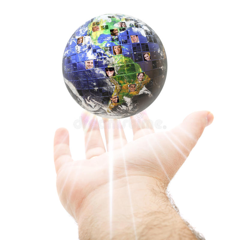 Weltweite globale Kommunikation lizenzfreies stockbild