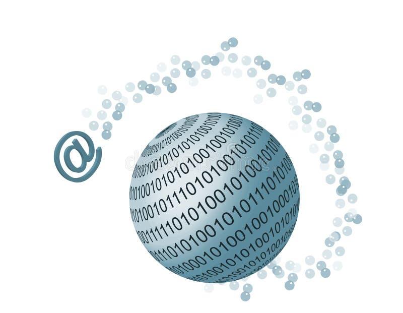 Weltweite Kommunikationen lizenzfreie abbildung