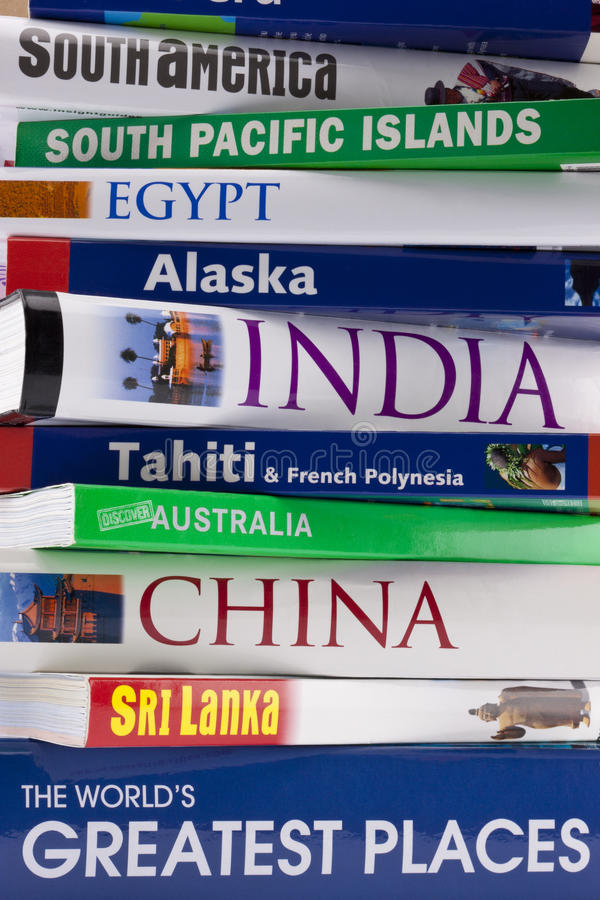 Weltweite Reisen-Anleitungen - Reisen-Bücher lizenzfreies stockfoto