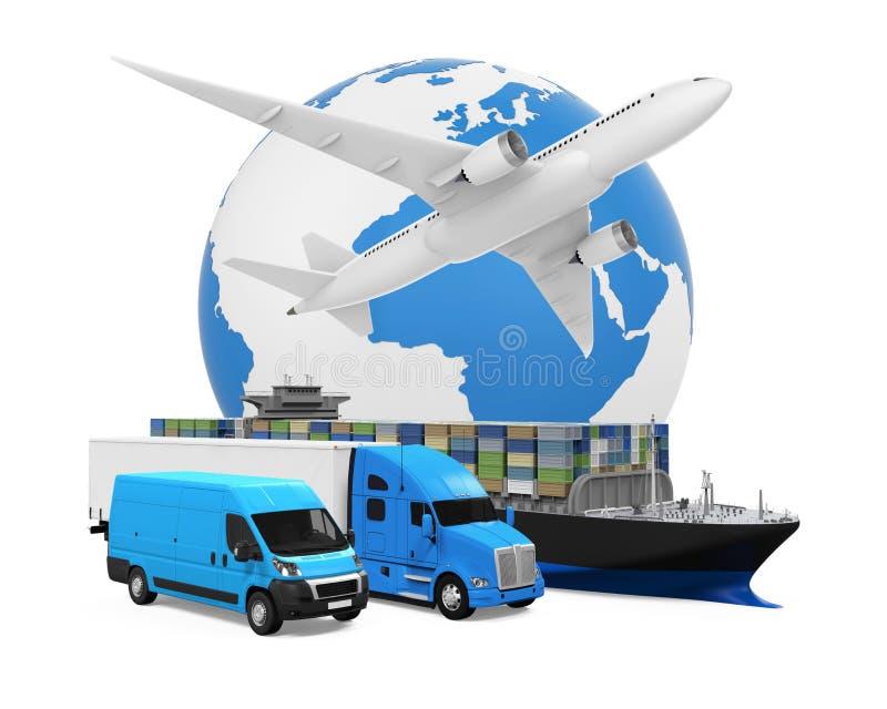 Weltweiter Fracht-Transport vektor abbildung