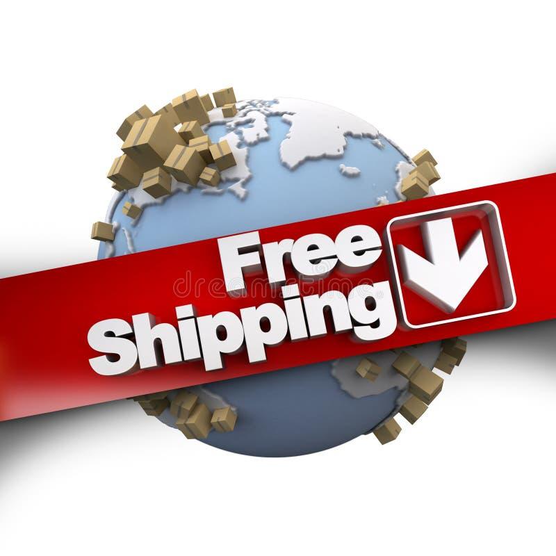 Weltweiter kostenloser Versand lizenzfreie abbildung