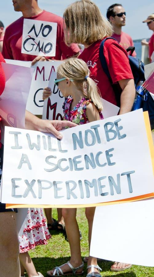 Weltweiter Protest gegen Monsanto und GVO lizenzfreies stockbild