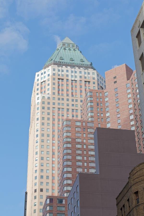 Weltweites Piazza-Gebäude New York Manhattan USA stockfotografie