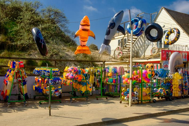 Welvings zand-Strand Toy Shop royalty-vrije stock afbeeldingen