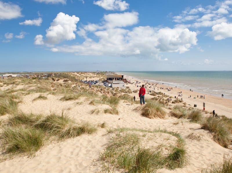 Welvingszand, Welving: duinen en het strand stock fotografie