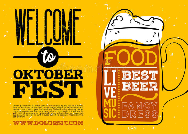 WelWelcome к плакату Oktoberfest иллюстрация вектора