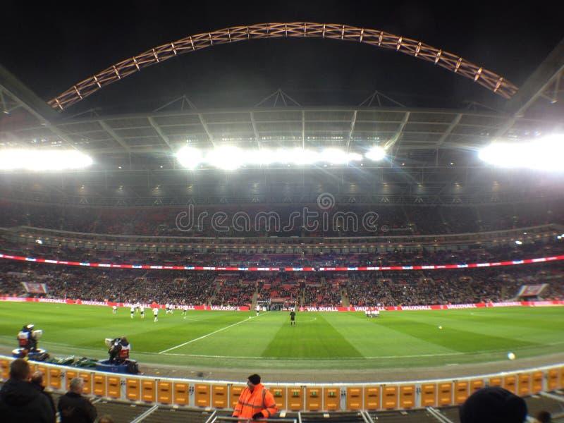 Wembley natt royaltyfria bilder