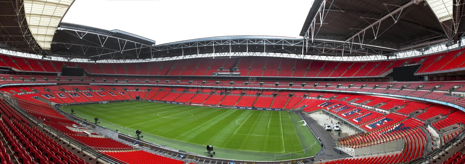 Wembley panorama royaltyfria bilder