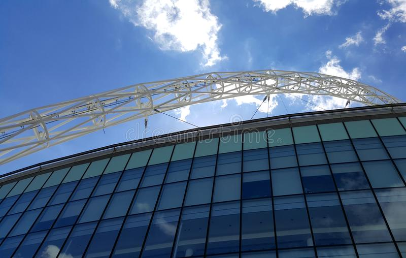 Wembley Stadium hemmet av engelsk fotboll royaltyfri fotografi