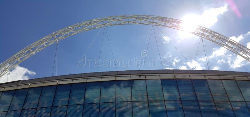 Wembley Stadium hemmet av engelsk fotboll fotografering för bildbyråer
