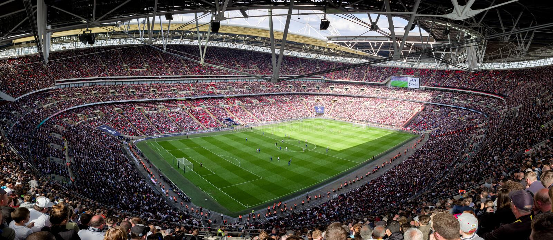Wembley Stadium, Londen stock foto's