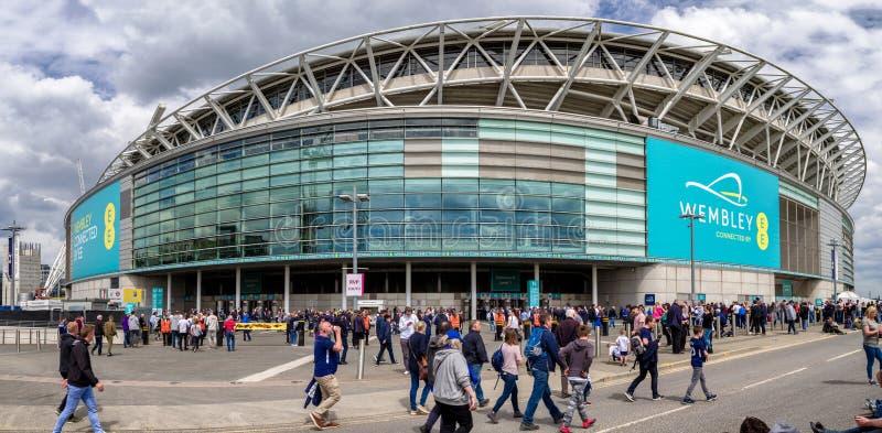 Wembley Stadium, London lizenzfreie stockfotos