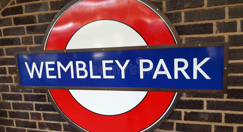 Wembley Stadium Wembley parkerar, hemmet av engelsk fotboll royaltyfri foto