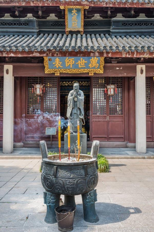 Wen Miao confucius temple shanghai china. Detail of Wen Miao confucian confucius temple in shanghai china popular republic stock photography