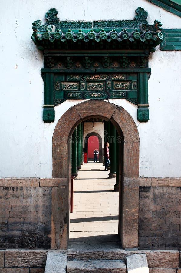 Wen Shuo pavilion at stock image