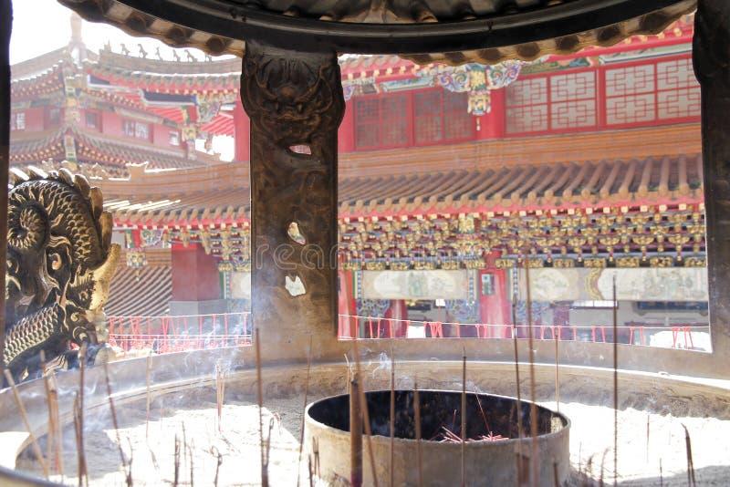 Wen Wu tempel arkivbilder