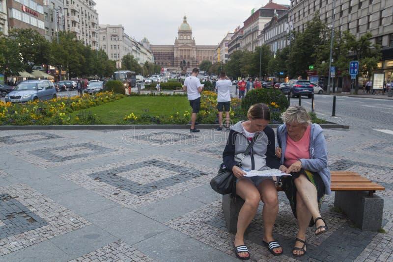 Wenceslas Square immagini stock
