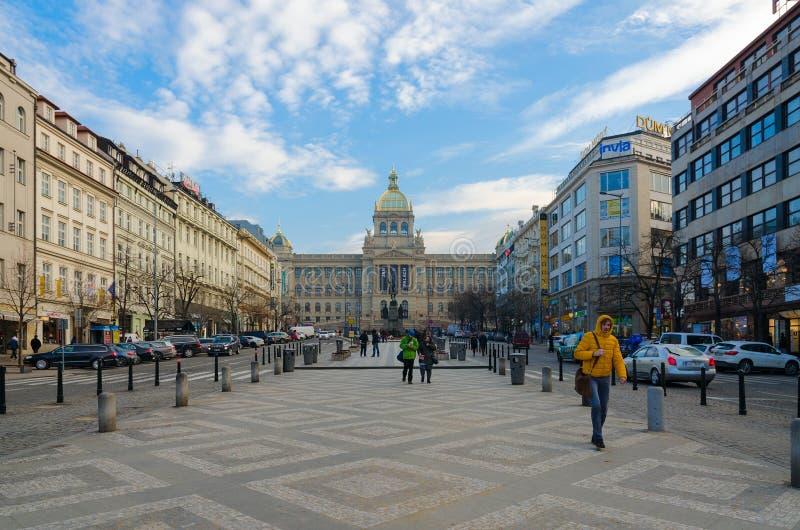 Wenceslas Square, Praga, República Checa fotografia de stock royalty free