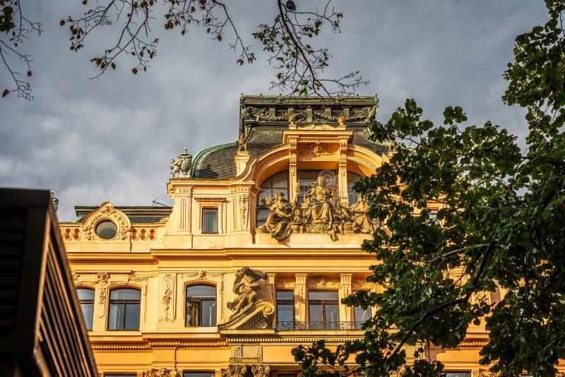 Wenceslas Square Prague in Czech Republic. Wenceslas Square Prague in Czech Republic royalty free stock image