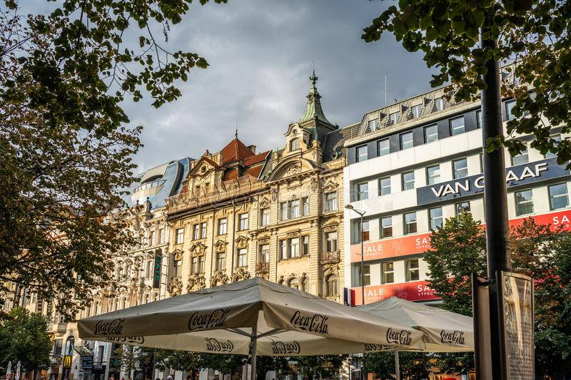 Wenceslas Square Prague in Czech Republic. Wenceslas Square Prague in Czech Republic stock image