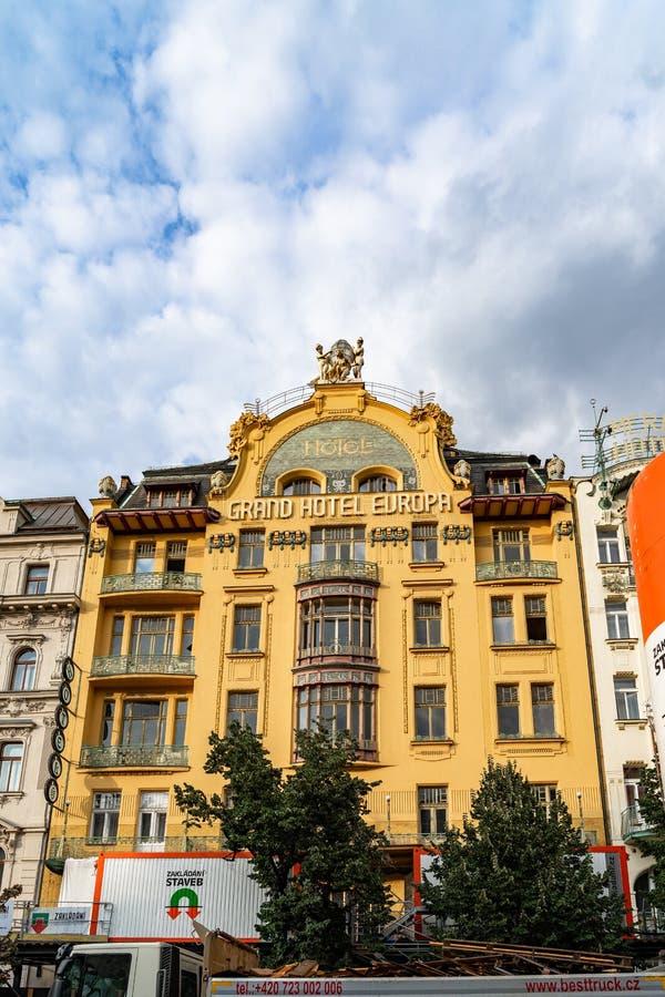 Wenceslas Square Prague in Czech Republic. Wenceslas Square Prague in Czech Republic royalty free stock photo
