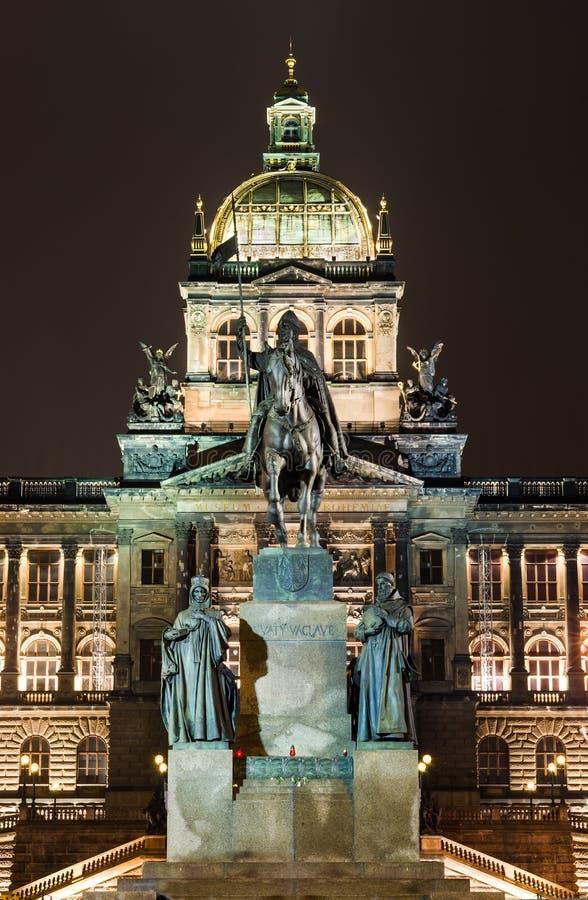 Wenceslav Square and National Museum, Prague royalty free stock photos