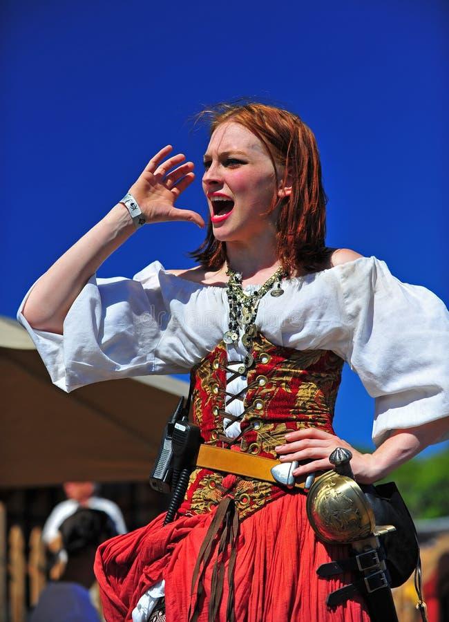 Wench van de Bar van Portland OF van het Festival van Piraten royalty-vrije stock foto's