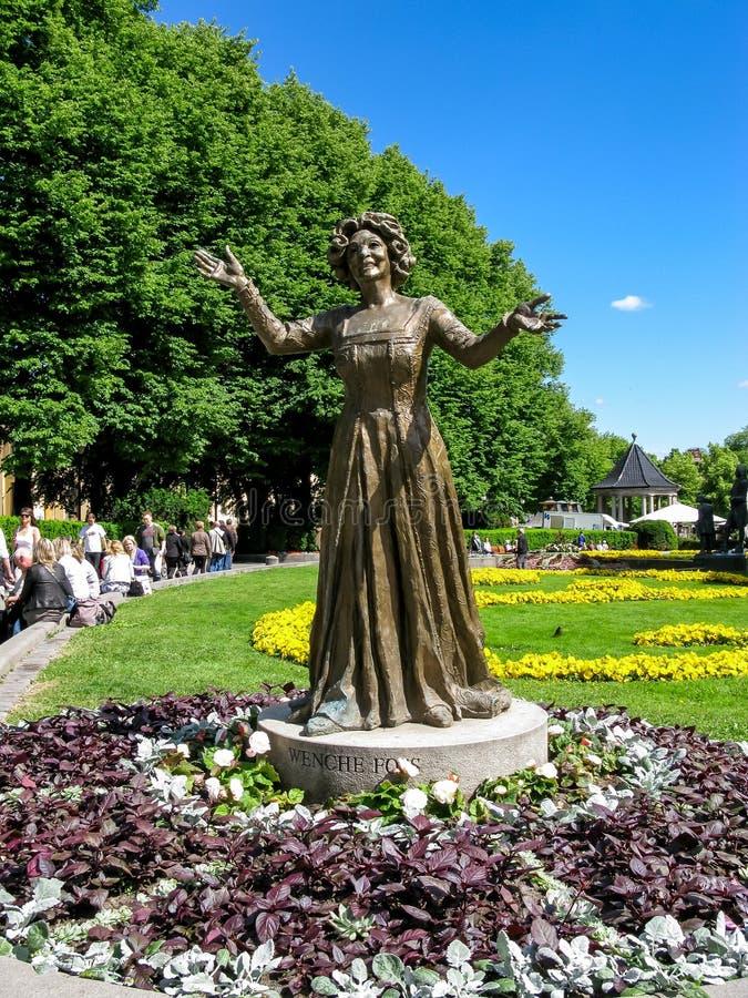 Wenche Foss statua w Oslo fotografia stock