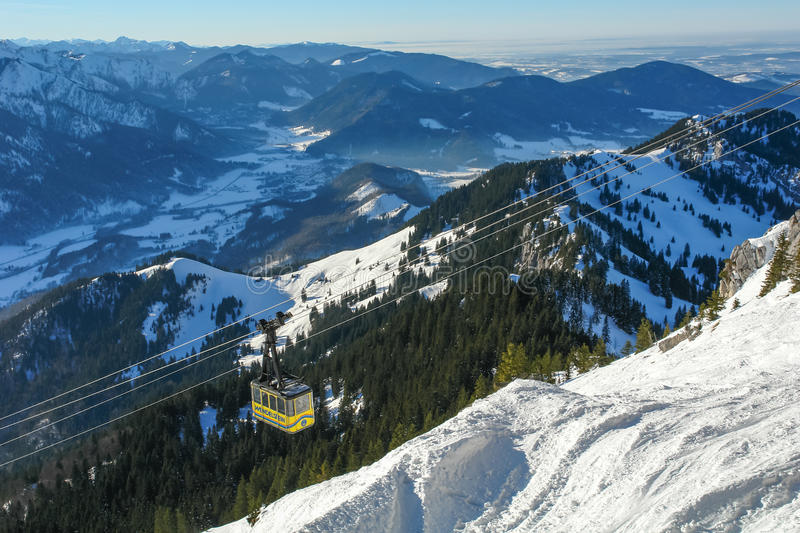 Wendelstein Cable Car III stock photo
