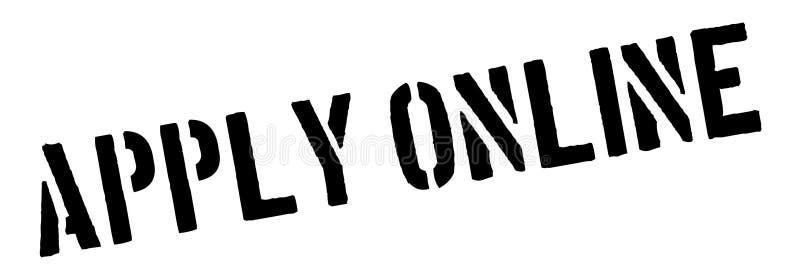 Wenden Sie schwarzen on-line-Stempel auf Weiß an lizenzfreie abbildung