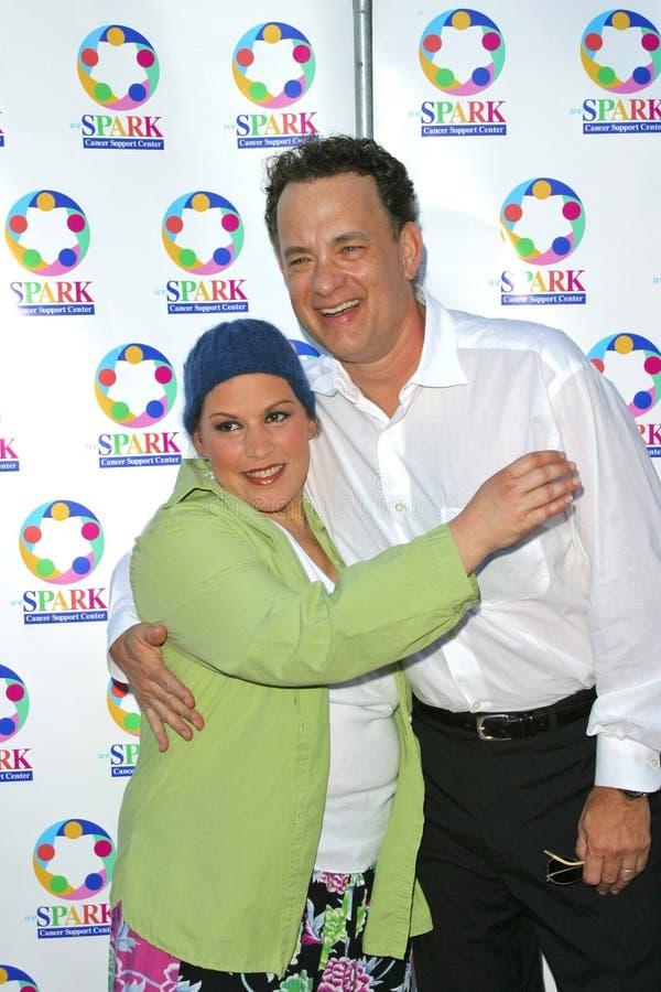 Wendie Jo Sperber, Tom Hanks lizenzfreie stockbilder