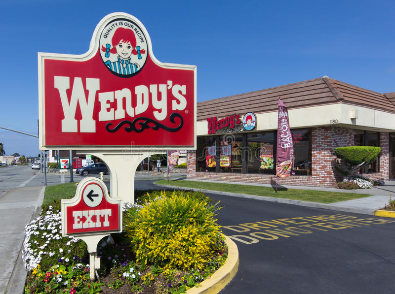 Download Wendy's Fast Food Restaurant Exterior And Sign. Editorial Stock Image - Image of public, thru: 39502229