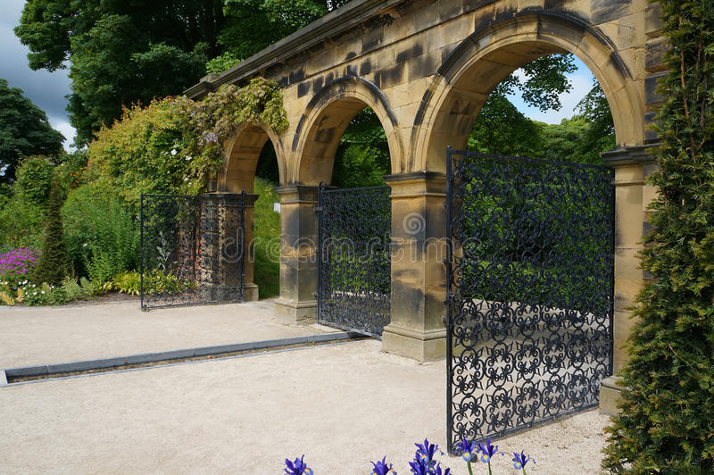 Weneccy bramy Alnwick ogródy zdjęcia stock