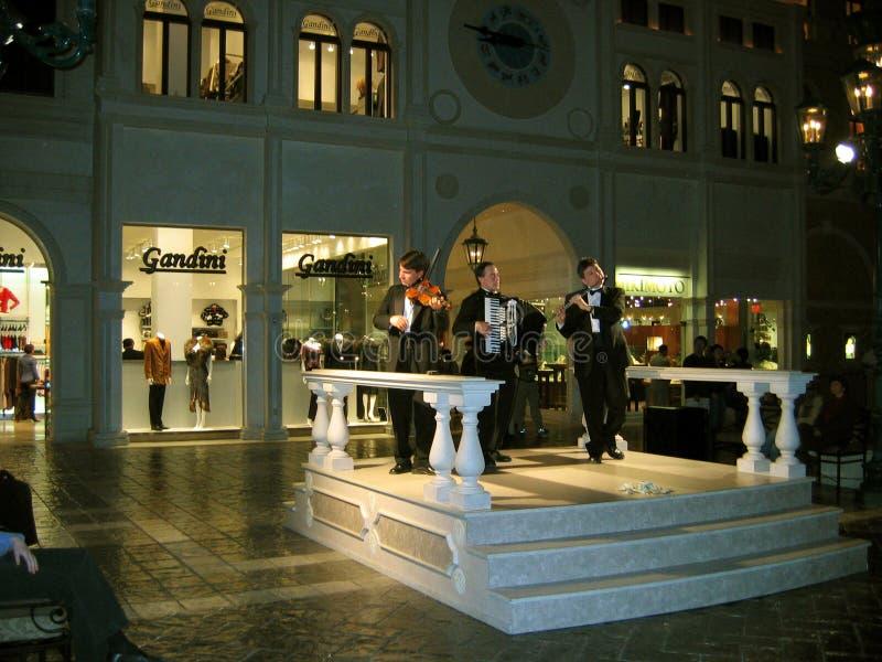 Weneccy Muzyczni wykonawcy, Las Vegas, Nevada, usa zdjęcia royalty free