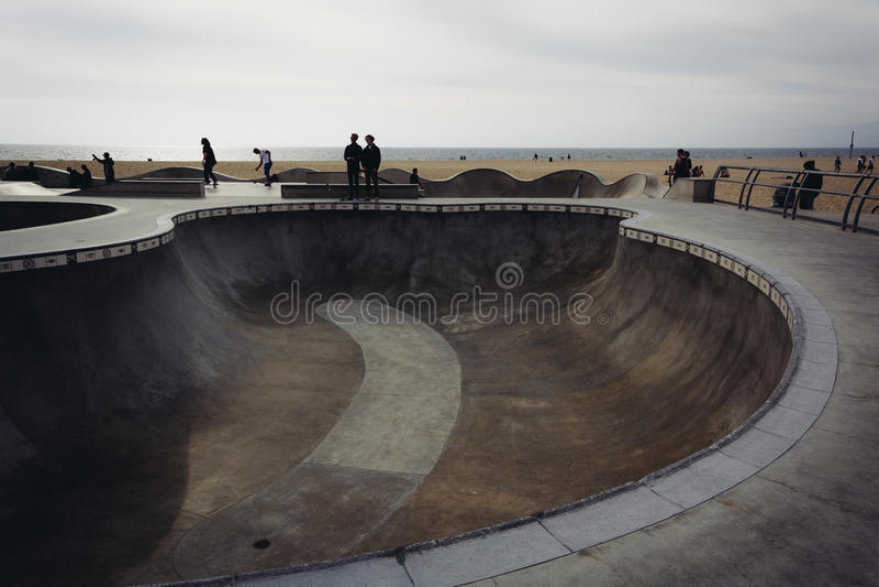 Wenecja łyżwy park w Wenecja plaży, Los Angeles obrazy stock